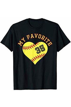 Softball Player My Favorite Star Fan Shirt Gifts Softball Player 35 Jersey Outfit No #35 Sports Fan Gift T-Shirt