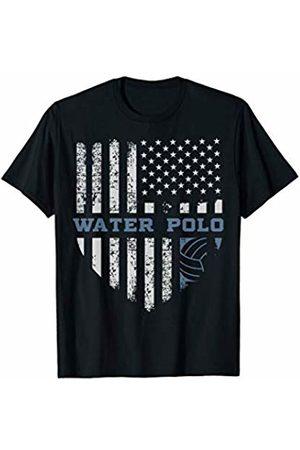 Water Polo Lovers Gift T-Shirt USA Flag Vintage American Tee