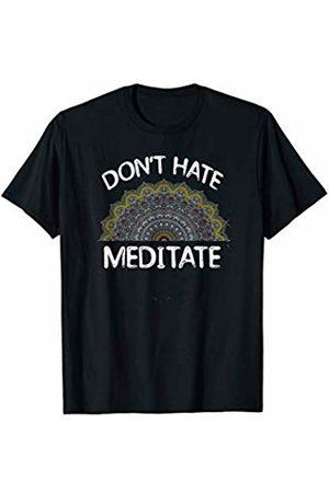 Tip Top Yoga Don't Hate Meditate Funny Meditation Yoga Cute Mandala Gift T-Shirt