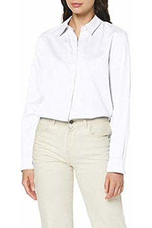 Seidensticker Women's Hemdbluse Langarm Modern Fit Uni-100% Baumwolle Blouse, (Optical 1)