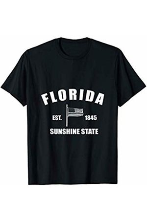 American State Flag Florida Gift, Present and Tee Cool Florida Vintage Shirt With US Flag For Sports T-Shirt