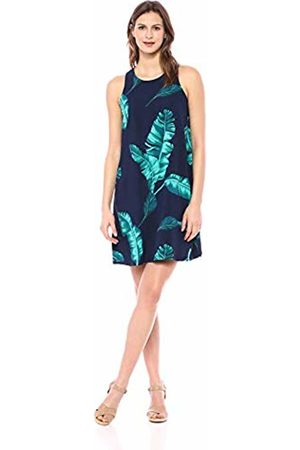 28 Palms Tropical Hawaiian Print Shift Dress Casual