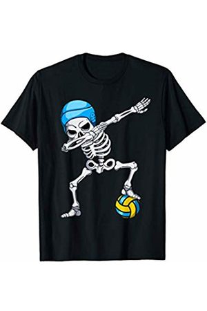 Halloween Water Polo Players Clothing Co. Halloween Dabbing Skeleton Water Polo Youth Apparel Boy Kid T-Shirt