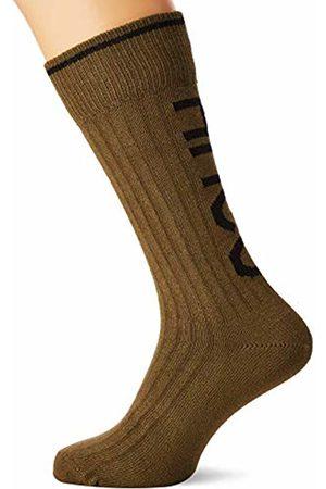 HUGO BOSS Men's Bs Rib Logo Cc Calf Socks, Dark 303)