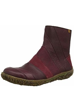El Naturalista Women's N5440 Mix Leather Rioja/Nido Ankle Boots