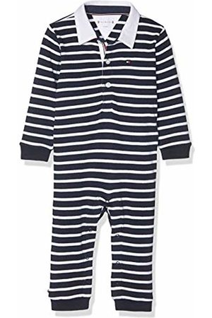Tommy Hilfiger Boys' Baby Rugby Stripe Coverall L/s Shaping Bodysuit