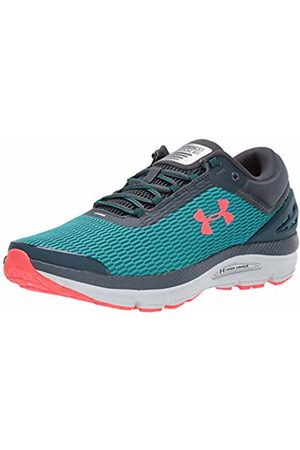 Under Armour Men's Charged Intake 3 Competition Running Shoes, (Teal Rush/Halo Gray/Beta 300)