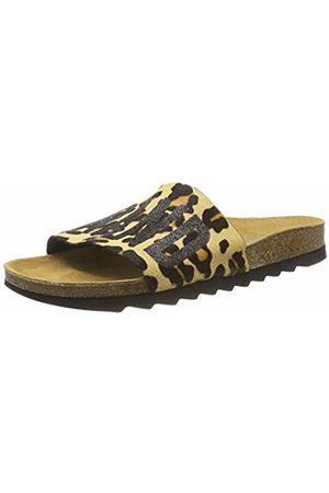 THE WHITE BRAND Women's Bio Open Toe Sandals, Leopard