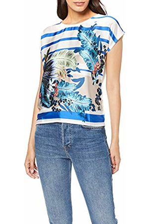 More & More Women's T-Shirt, ( Tropical on Stripes 4331)