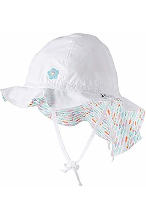 Sterntaler Girls Sun Hat with Ties and Neck Protection, Age: 2-4 years, Size: 53