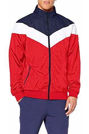 Urban classics Men's Arrow Zip Jacket Mehrfarbig ( /NVY/wht 857)
