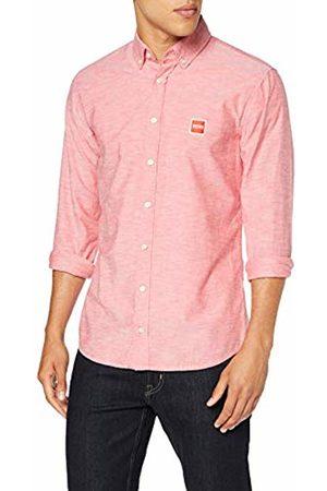 HUGO BOSS Men's Mabsoot Casual Shirt, (Bright 622)