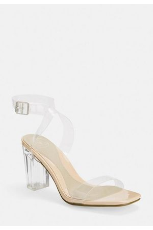 Missguided Clear Mid Block Heels