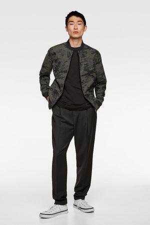 Zara Camouflage faux leather jacket