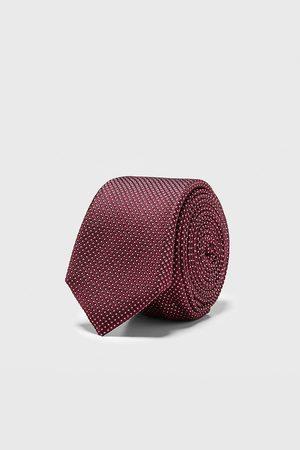 Zara Geometric jacquard skinny tie