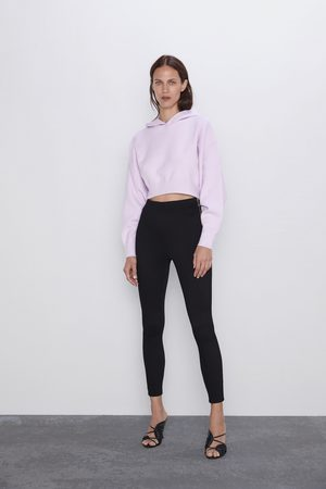Zara Ottoman leggings with zip detail
