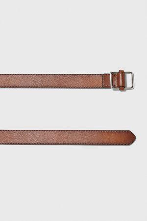 Zara Topstitched belt