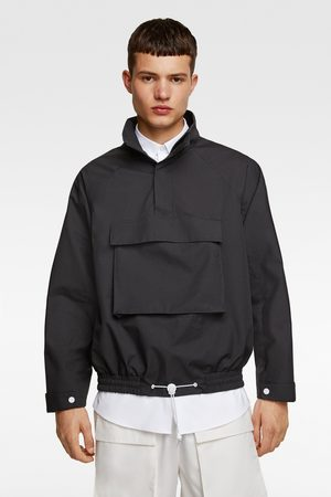 Zara Technical parka with pouch pocket