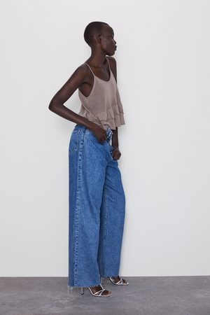 Zara Ruffled knit top