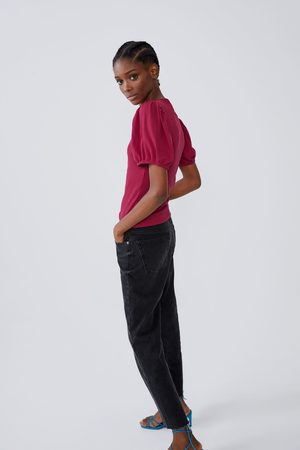Zara Voluminous textured t-shirt