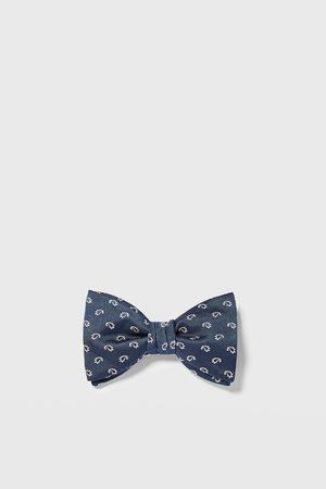 Zara Jacquard paisley bow tie