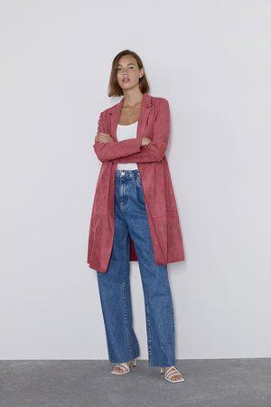 Zara Faux suede coat