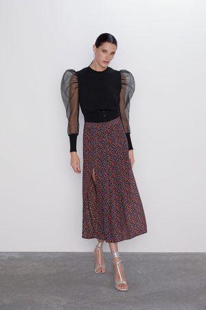 Zara Floral printslit skirt
