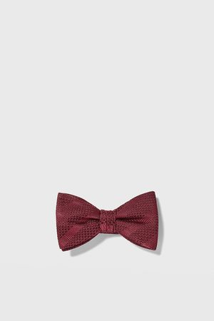 Zara Striped jacquard bow tie