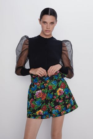 Zara Floral print bermuda shorts