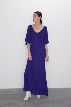 Zara Metallic thread cape dress