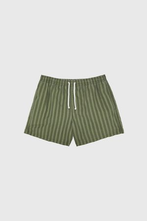 Zara Striped swimming trunks