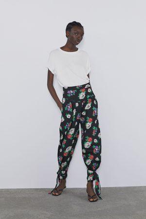 Zara Women Trousers - Floral print trousers