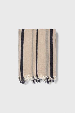 Zara Striped jacquard scarf