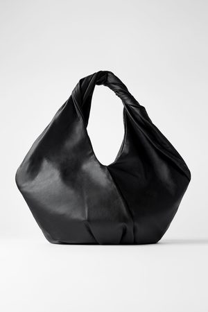 Zara Leather oval tote bag
