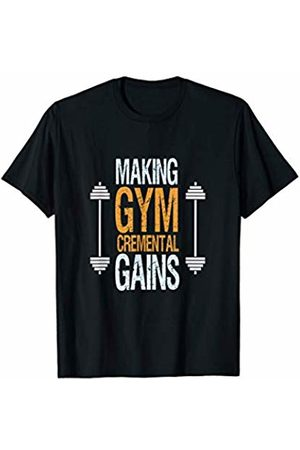 Motivational Gym Quotes Gifts Gym Workout Fitness Motivational Quote GymCremental Gains T-Shirt