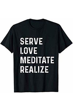 Spiritual meditation service T-shirt Serve Love Meditate Realize Spiritual shirt Yoga meditation T-Shirt