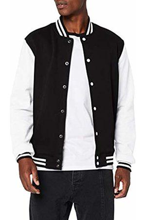 Build Your Brand Men's Sweat College Jacket (Blk/ 00050)