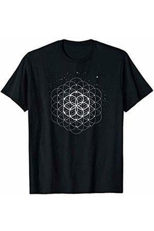 Sacred Geometry Yoga Mandala Psychedelic Occult Sacred Geometry Seed Of Life Yoga Flower Mandala Meditation T-Shirt