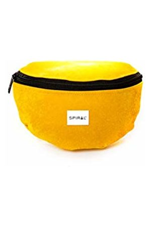 Spiral Mustard Velvet Bum Bag Sport Waist Pack, 23 cm