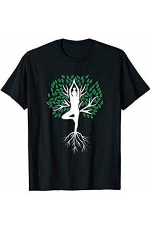 Inspiring Yoga Gear Gift, Present and Tee Yoga Tree Shirt Meditation Tree Of Life Hatha Pose T-Shirt