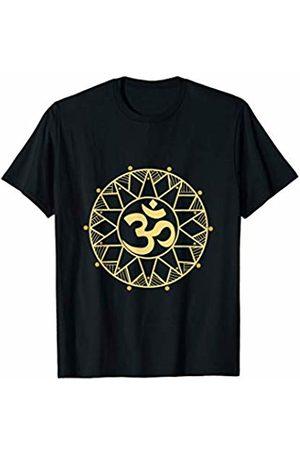 Spiritual Meditation Gift, Present and Tee Sacred Gold Mandala Shirt Sanskrit Om Yoga T-Shirt