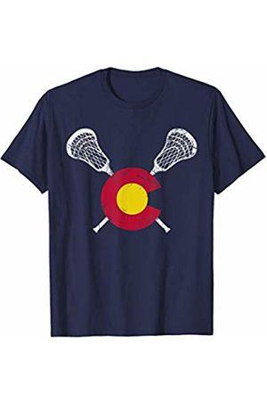 Colorado Flag Lacrosse Men T-shirts - T-Shirt