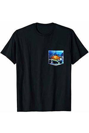 Aquarium Fish Lover Clothing Funny Goldfish Gift Gold Fish Tank Pocket For Men Women T-Shirt