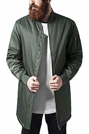 Urban classics Men's Long Bomber Jacket Grün (Olive 176)