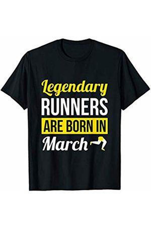 Shirtbooth: Running Birthday Shirts Legendary Runners Are Born In March Birthday Gift Runner T-Shirt