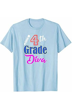 Back To School Apparel by BUBL TEES 4th Grade Diva Back To School T-Shirt