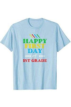 Back To School Apparel by BUBL TEES Happy First day of 1st Grade Teacher Student Gift T-Shirt