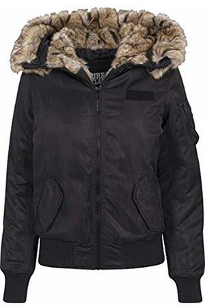 Urban Classic Women's Ladies Imitation Fur Bomber Jacket