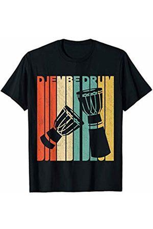 Classic Vintage Retro T-Shirts Vintage Retro Djembe Drum Silhouette T-Shirt