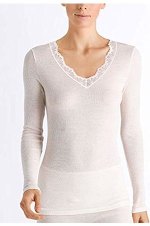 Hanro Women's Woolen Lace Shirt 1/1 Arm Thermal Top